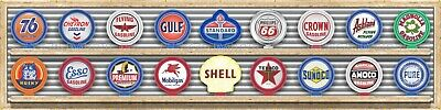 OLD GAS STATION GAS PUMP GLOBE COLLECTION BANNER SIGN GARAGE ART MURAL 4' x 16'
