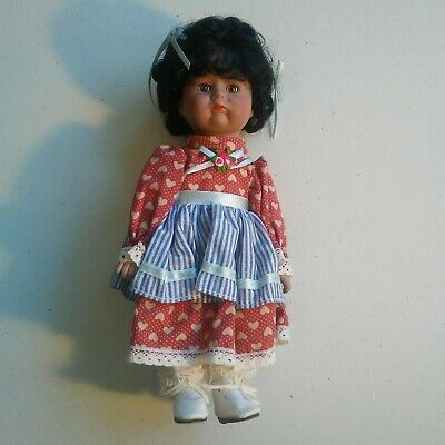Rare Vintage CHSN La Collection Artisan Bisque Porcelain Girl Doll Candy 10""