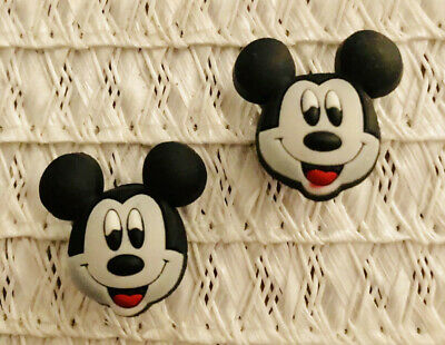 Old Fashioned Mickey Mouse  Shoe Charm Set Of 2 For Crocs