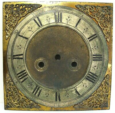 A Good  Early  Brass Longcase Dial