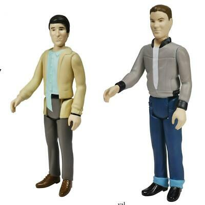 Back To The Future 9.5cm Reaction Figura de Acción Lote: Biff & George Mcfly