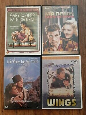 The Fountainhead/Wings/Mr. Deeds/For Whom The Bell Tolls/Gary Cooper/Classics!!