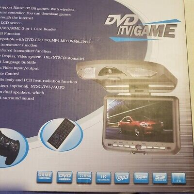 """Universal Roof Mount Video and Audio Entertainment System 9"""" DVD/TV/Game"""