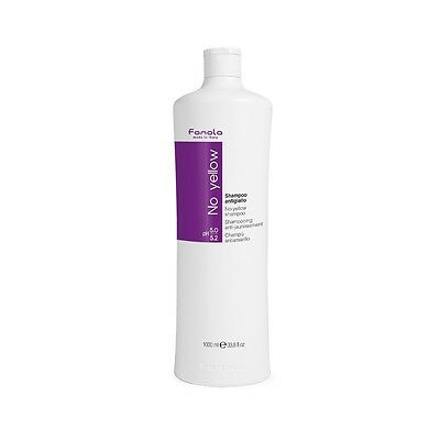 Fanola No Yellow Shampoo 1L 1 Litre 1000ml  + FREE PUMP - Hair Toner for Blondes