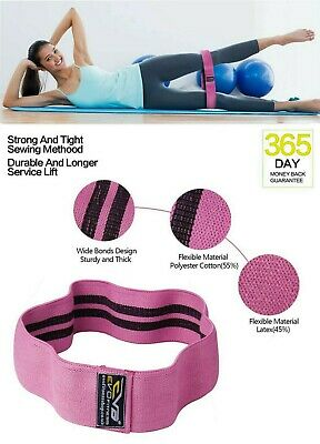 EVO Fitness Pro Elastic Exercise Resistance Bands & Expanders HIP CIRCLE Fabric