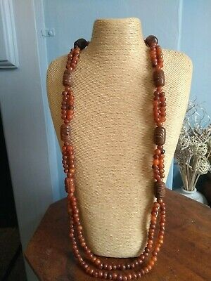 Chinese Horn Beaded Necklace. Vintage.
