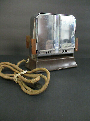 Vtg KWIKWAY Electric Toaster Collectible Stainless Steel Wooden Handles TOASTER