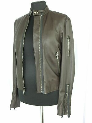 $807 Juicy Couture GENUINE LEATHER JACKET Size M NEW $807 Dark brown NWT