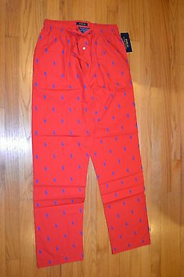 Men's Polo Ralph Lauren Sleepwear Red Pajamas Pants Size: Large  New With Tag!