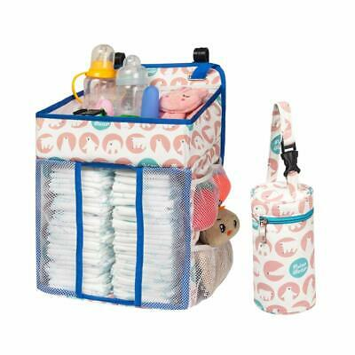 Selbor Baby Nursery Organizer and Diaper Caddy, Hanging Diaper Stacker Storage