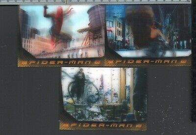 2004 Upper Deck Spider-Man 2 Movie 3 Card Lenticular Insert Set