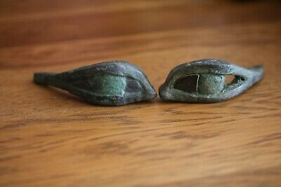 Ancient Egyptian Bronze Sarcophagus Eyes, Late Period, c. 664 - 332 B.C. - Egypt