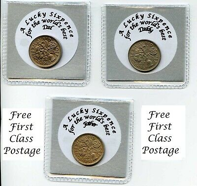 Special Father's Day Lucky Sixpence Best (Dad, Daddy, Father) keepsake gift