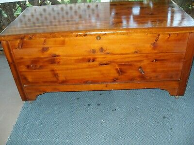 Vintage Large Cedar Blanket Storage Chest