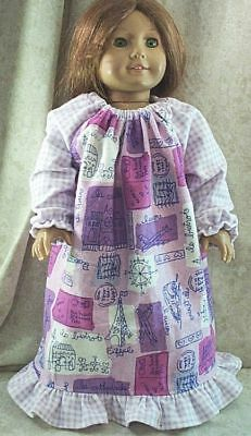 """18/"""" Doll Nightgown// Pajamas American Made 18 inch Doll Clothes 852abc"""