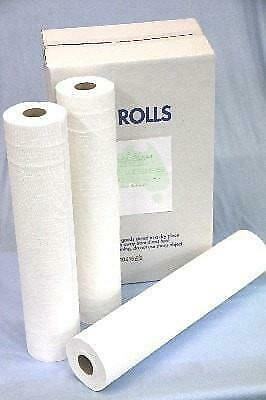 Paper Bed Sheet Roll Perforated 59cm x100M x 6 Rolls/carton