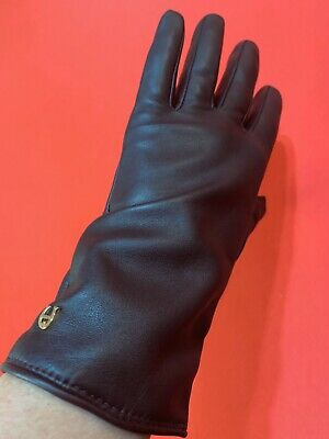 ETIENNE  AIGNER ... Leather  &  Cashmere  Gloves ... Brown ... Size  XL ... NEW