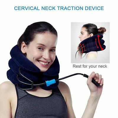1 Blue Travel Air Pillow & Neck Traction to Reduce Pain Christmas Birthday Gift