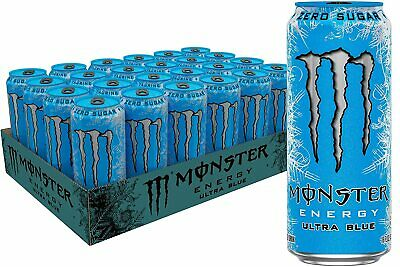 💙 Monster Energy Ultra Blue, Sugar Free Energy Drink, 16 Ounce (Pack of 24) 💙