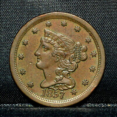 1857 Braided Hair Half-Cent ✪ Ch-Xf Extra Fine ✪ 1/2C Scarce Coin U20 ◢Trusted◣