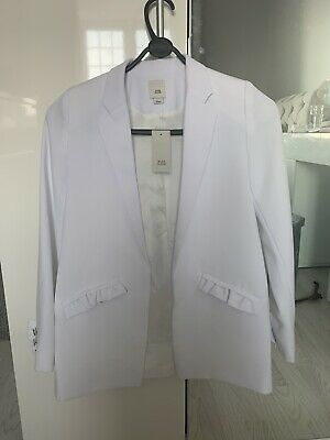 Girls white river island blazer new with tags Age 10