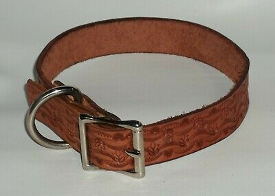 Dog Collar Genuine 100% Leather Hand Stamped Personalized  Lge Handmade Usa
