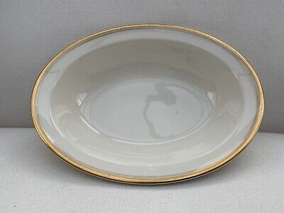 Vintage OPCO Syracuse China Old Ivory  Serving Bowl Gold Trim 10""
