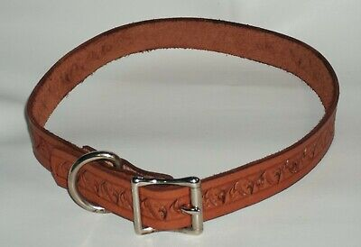 Dog Collar Stamped Genuine Leather Personalized  Xl Handmade Usa