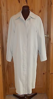 NEXT cream light beige oatmeal SHOWER RESISTANT mac coat jacket 10 38 BNWT