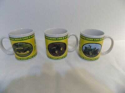 3  JOHN DEERE Officially Liscensed Coffee Cups