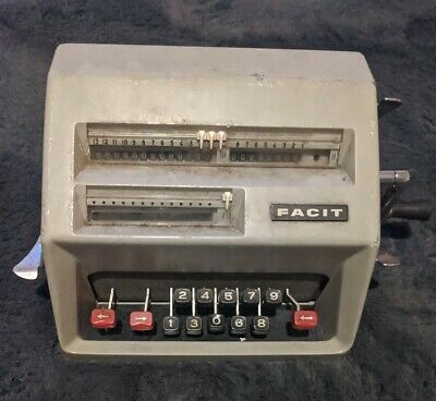 Vintage Facit AB Typewriter Calculator Counting Machine Sweden C1-13 with manual