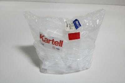 Lot of 100 Kartell 734 0.25 Oz Container with Hinged Lid