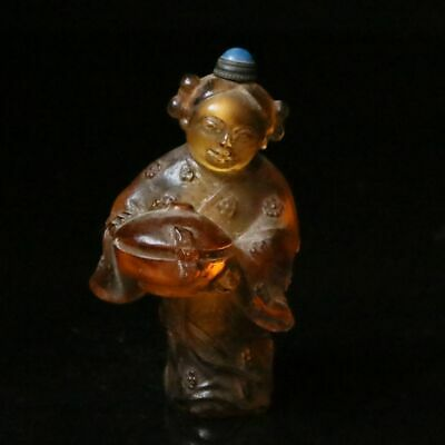 Chinese Exquisite Glass Handmade Child Snuff bottle