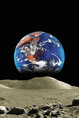 EARTH FROM THE MOON single 24x36 poster BRAND NEW NEVER HUNG SOLAR SYSTEM SPACE!
