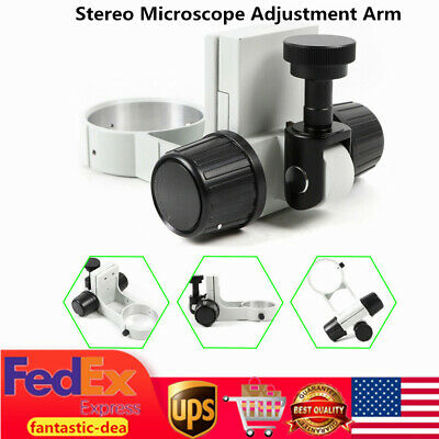 Industrial Stereo Microscope Adjustment Arm Mount Head Holder Bracket Ring 76mm