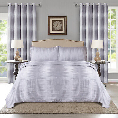 Luxury Grey Quilted Bedspread Bed Throws Double King Super King Bedding Sets
