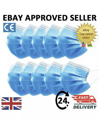 Face Mask Surgical Disposable Mouth Cover 3PLY Breathable Respiration