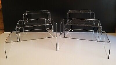 *8 Set Of* Clear Acrylic Perspex Display Stands,Plastic,Plinths,Riser,Shop
