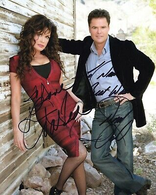 DONNY+MARIE OSMOND HAND SIGNED 8x10 PHOTO+COA       SIGNED BY BOTH       TO DAVE