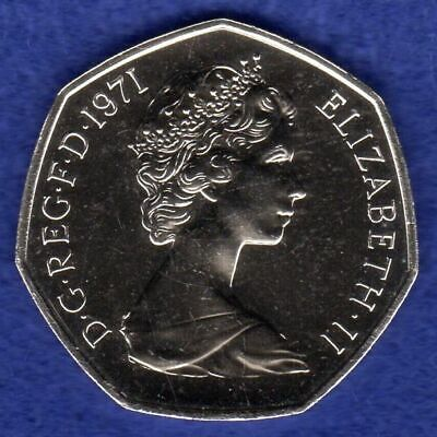 Great Britain, 1971 Proof 50p, 50 Pence Coin, Britannia, Large (Ref. t3056)