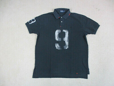VINTAGE Ralph Lauren Polo Shirt Adult Extra Large Black Red Pony Rugby Mens 90s*