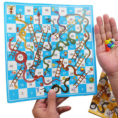 Giant Ludo and Giant Snakes & Ladders Game Traditional Family Party Indoor Game