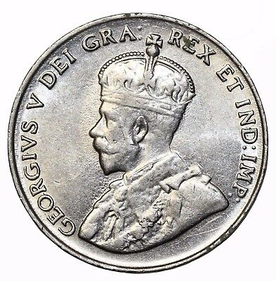 1923 Canada Five 5 Cents King George V KM#29 Canadian Coin