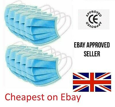 Surgical Face Mask - 3Ply Disposable Face, Mouth & Nose Protection Masks