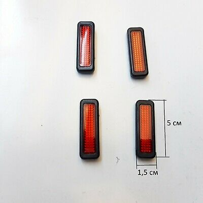 New Door Guard Protectors Edge Strip Reflectors Amber Bump Ding Stop For Peugeot