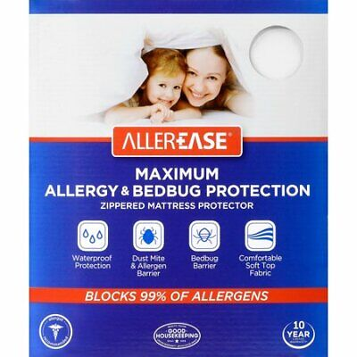 Aller-Ease 3210WMA Maximum Allergy & Bed Bug Protection Zippered Mattress GB