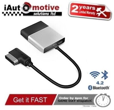 Audi VW Bluetooth 4 Music Streaming Adapter iPod Media Interface Cable MMI AMI