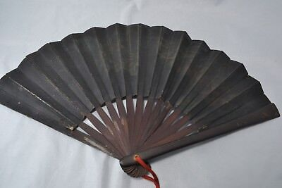 Japanese commander's war fan Ogi samurai general use dragon design antique