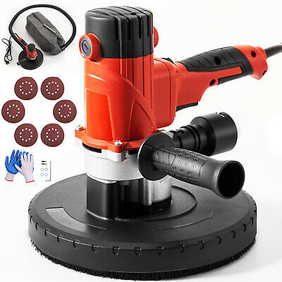 Drywall Sander 1200W 225mm Handheld 5 Variable Speed Sanding Pad w/ Vacuum Bag
