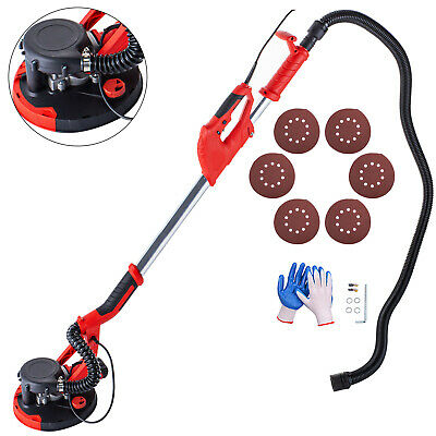 Drywall Sander 750W 225mm Extendable Handle 5 Variable Speed Vacuum System